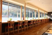 Counter seating offers a great view of Arashiyama